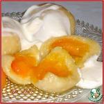 Кнедлики творожные с абрикосами