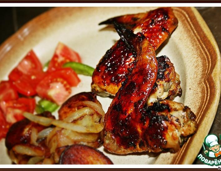 Рецепт: Куриные крылышки по-гречески