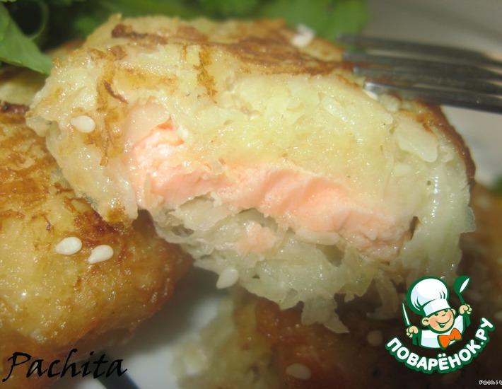 Рецепт: Рыба в картофельно-яблочной корочке