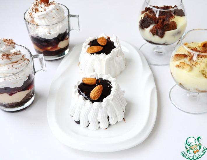 Рецепт: Пирожное и трайфл с английским заварным кремом