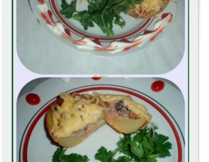 Рецепт: Жюльен в картофеле