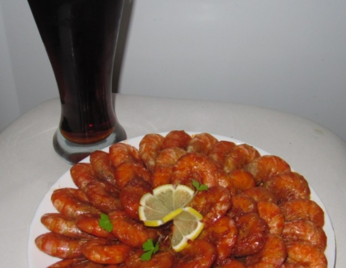 креветки по карибски к пиву рецепт