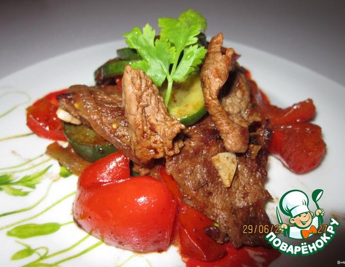 Рецепт: Мясное блюдо уйгурской кухни Тархамяк сяй