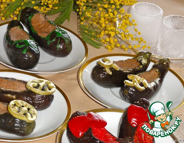 Рецепт: Балетки из баклажанов