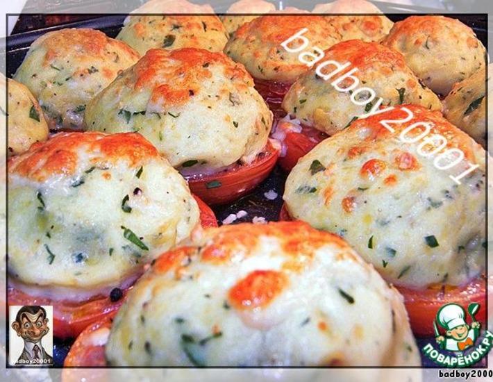 Рецепт: Картофельное пюре и помидоры на гарнир
