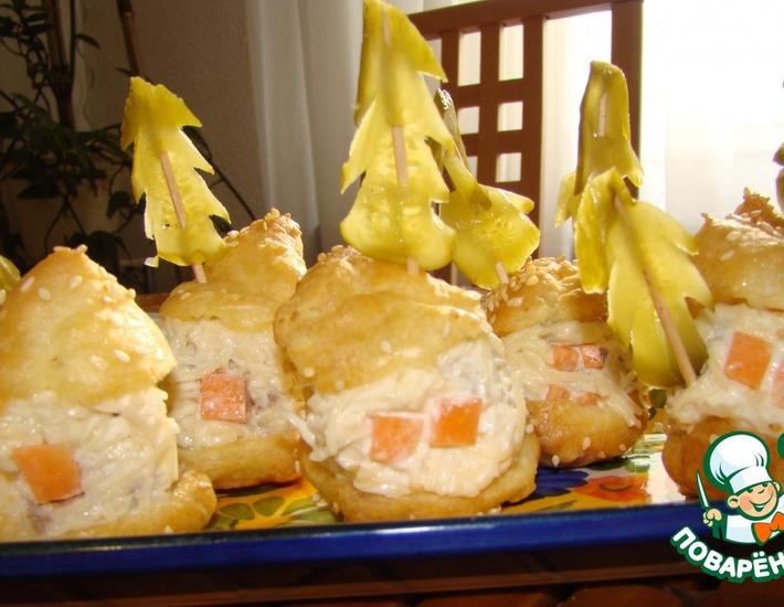 Рецепт: Закуска Новогодняя деревня