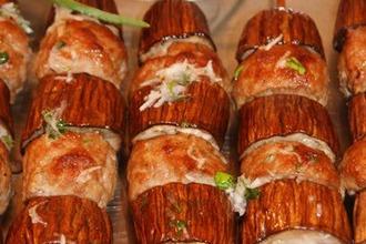 Рецепт: Сувлаки кебаб с баклажанами