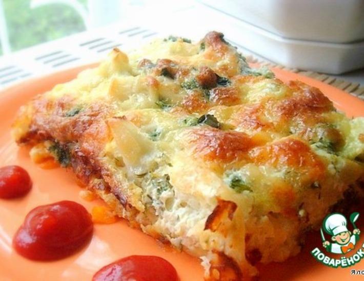 Рецепт: Запеканка из цветной капусты с овощами