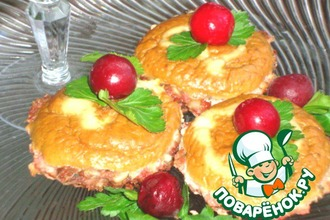 Рецепт: Мясные пирожные с кремом-паштетом