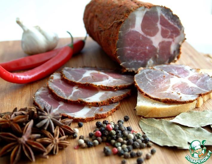 Рецепт: Вяленое мясо в домашних условиях