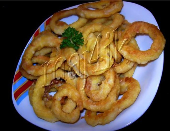 Рецепт: Кольца кальмаров в кляре