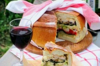 Рецепт: Богатый хлеб для пикника