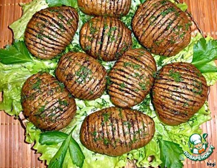 Рецепт: Картофельная гармошка