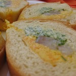 """Багет """"Закусочный"""" с сельдью и разноцветным маслом"""