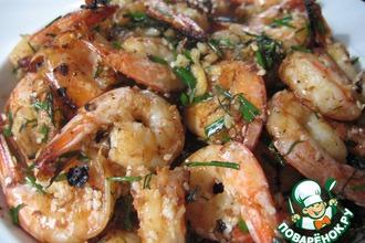 Рецепт: Ароматные   креветки   на   китайский   манер
