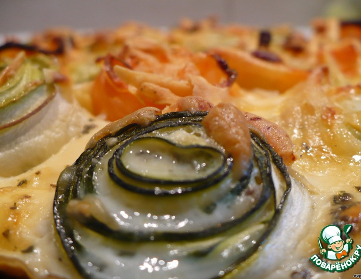 Рецепт: Нежнейшая запеканка с  кабачками
