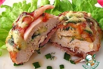 Рецепт: Куриные кармашки с беконом и сыром