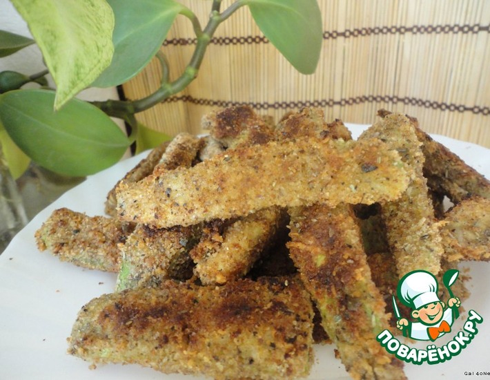 Рецепт: Кабачковые и баклажанные палочки в сырной панировке