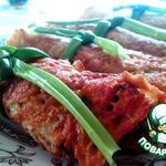 Драники-рулеты с грибной начинкой
