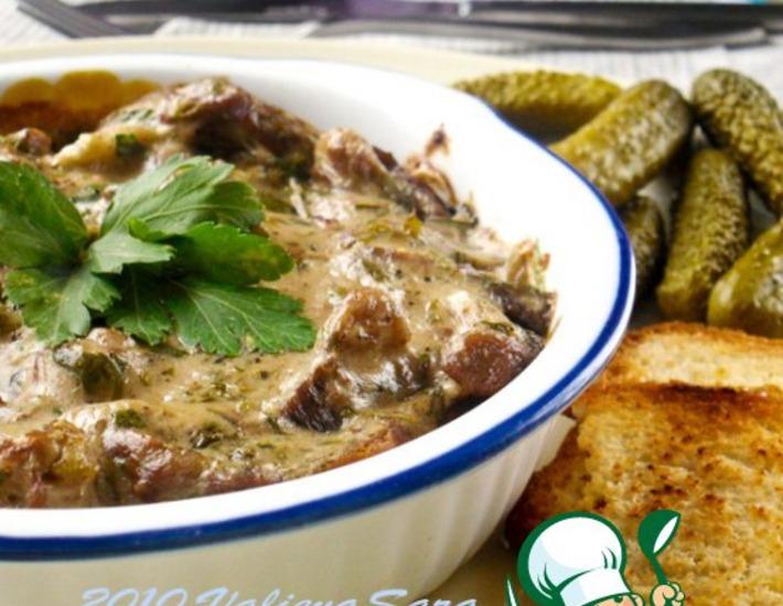 Рецепт: Croute a la viande-Крут с мясом