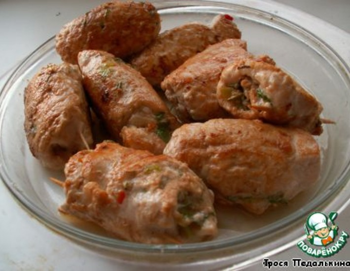 Рецепт: Куриные роллы на азиатский манер