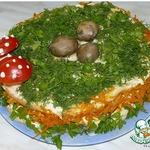 Закусочный торт Грибная полянка