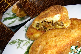 Рецепт: Картофельные зразы с грибами и овощами