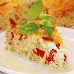 Летний пирог-запеканка с сыром