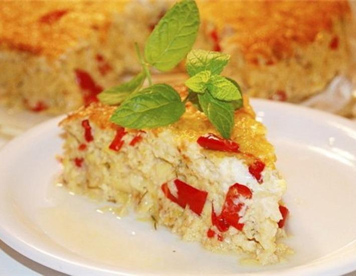 Рецепт: Летний пирог-запеканка с сыром