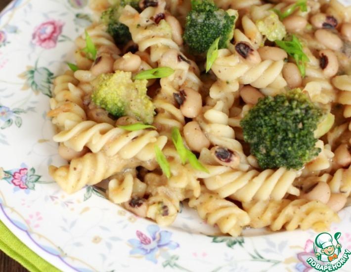 Рецепт: Паста с фасолью и брокколи
