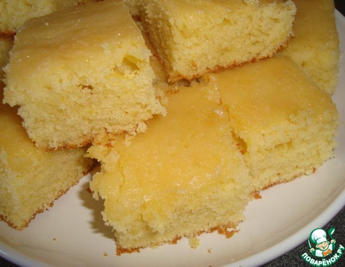 Рецепт: Легкие лимонные пирожные