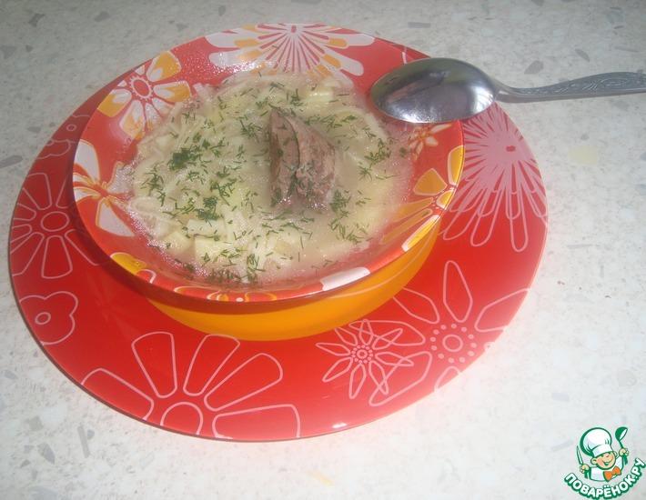 Рецепт: Суп-лапша из гуся в МВ
