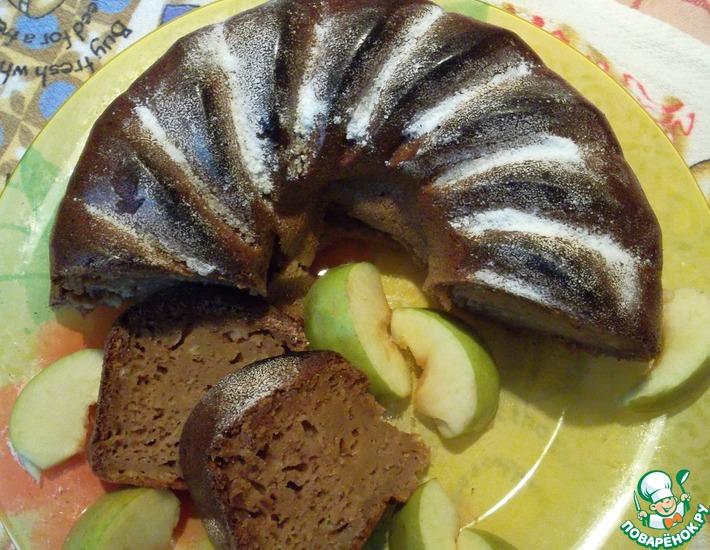 Рецепт: Яблочный кекс Облачко