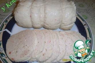 Рецепт: Домашняя куриная молочная колбаса