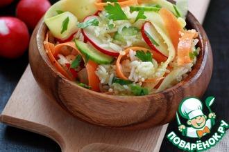 Рецепт: Салат с киноа, басмати и овощами
