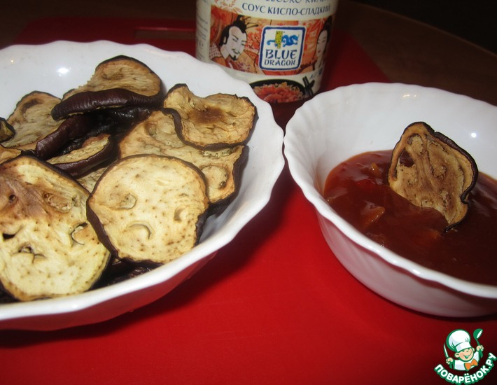 Рецепт: Баклажановые чипсы