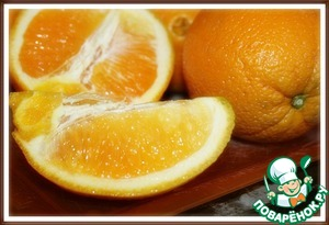 1. In the pitcher and squeeze the juice of 4 oranges.