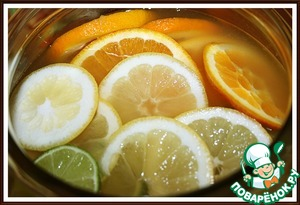 6. Добавить к лимонаду. Оправить в холодильник.