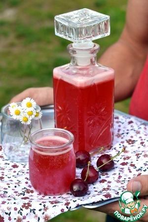 Рецепт Вишневый игристый напиток