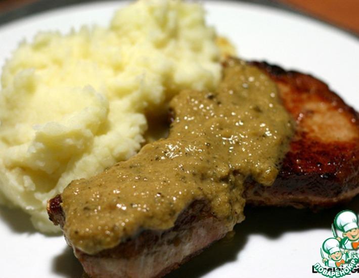 Рецепт: Свинина под соусом из корнишонов