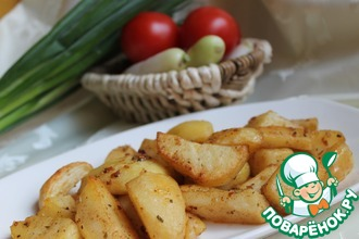 Рецепт: Запеченный картофель по-турецки