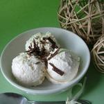 Сливочное мороженое с дыней