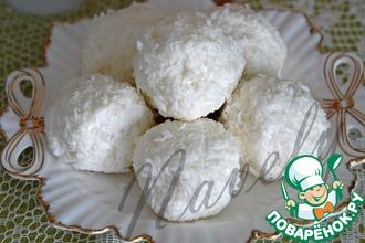 Рецепт: Десерт творожно-кокосовый с ягодами Снежки