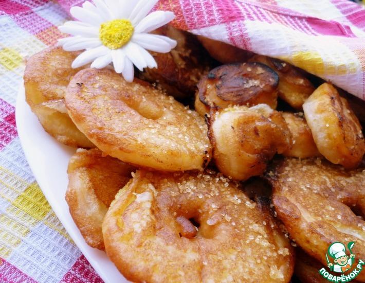 Рецепт: Пончики фруктовые вкусные и хрустные