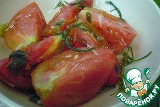 Рецепт: Маринованные помидоры холодным способом