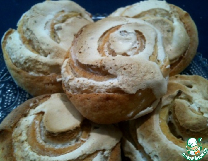 Рецепт: Творожное печенье с безе