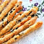 Гриссини с маслинами и пармезаном