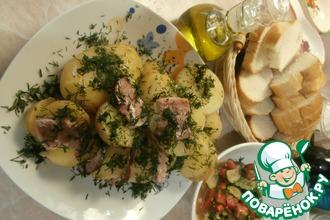 Рецепт: Картофель с беконом, запечённый в фольге