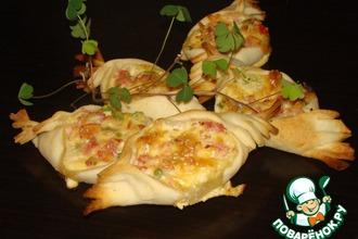 Рецепт: Мини-пироги со вкусом пиццы