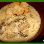 Бархатный грибной суп